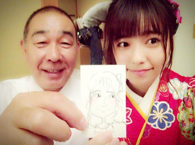 AKB48島崎遥香「でんでんさんが似顔絵を描いてくれました☺︎」