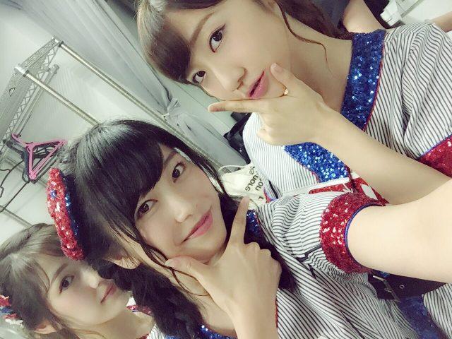 AKB48横山由依「お誕生日のきりんさんとツーショット撮ろうとしたらまゆさんがうしろに!!」