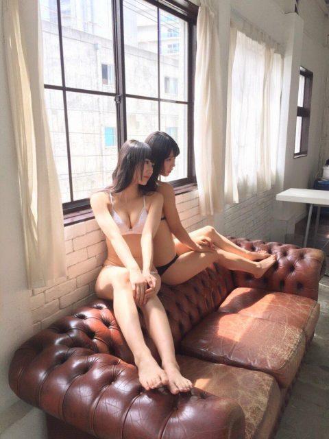 NMB48矢倉楓子・白間美瑠「ENTAME 2016年10月号」オフショット