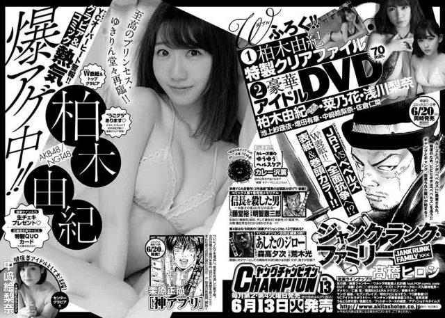 「ヤングチャンピオン 2017年 No.13」表紙:柏木由紀(AKB48) [6/13発売]