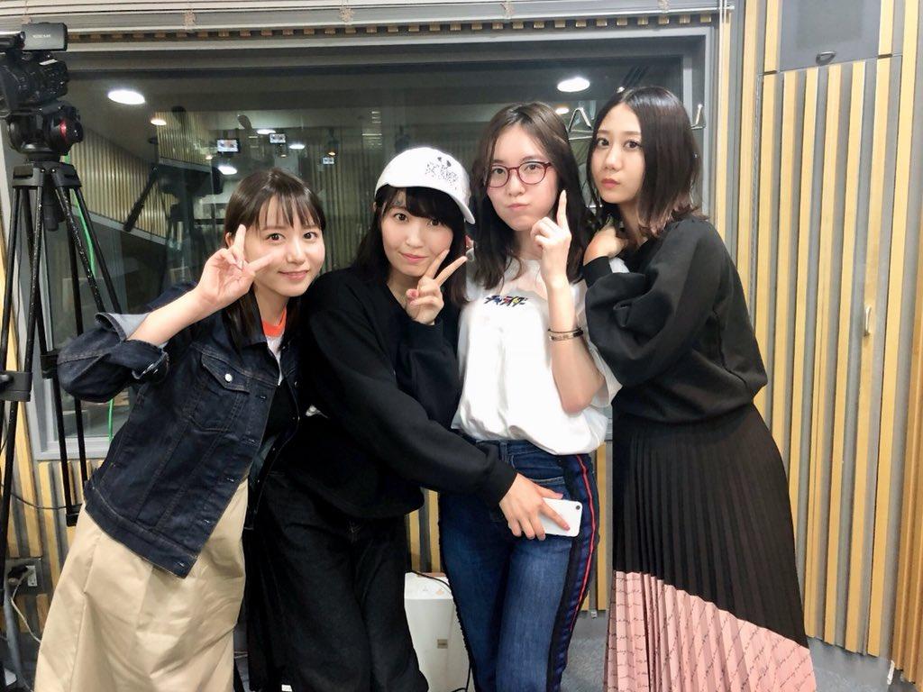 「AKB48のオールナイトニッポン」オフショット * 大場美奈・惣田紗莉渚・古畑奈和・松井珠理奈