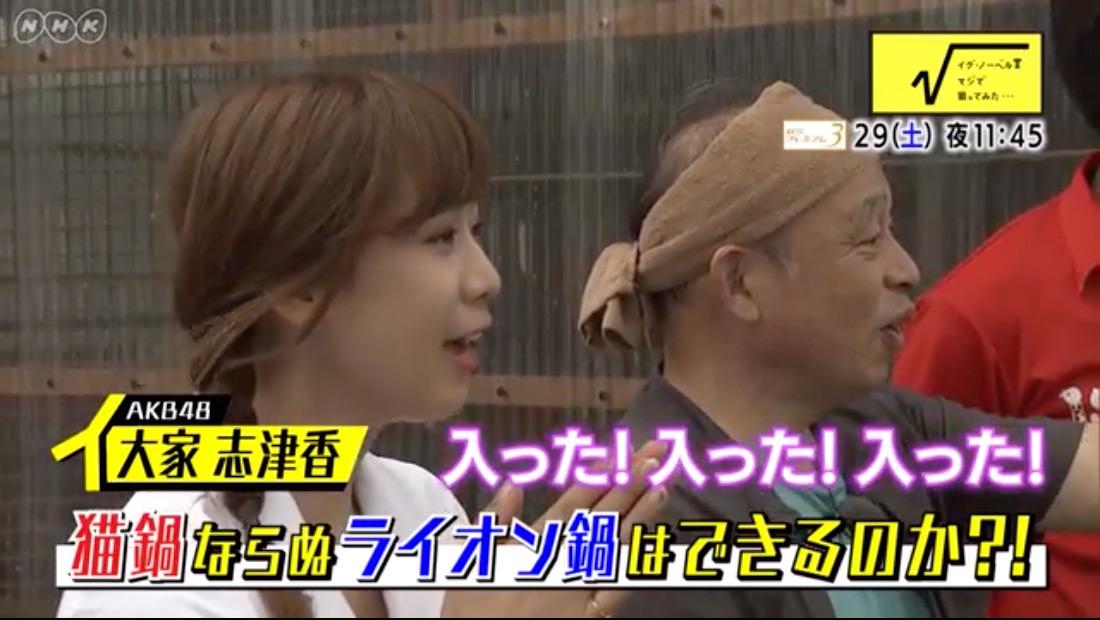 AKB48大家志津香「イグノーベル賞 マジで狙ってみた…」 [9/29 23:45~]