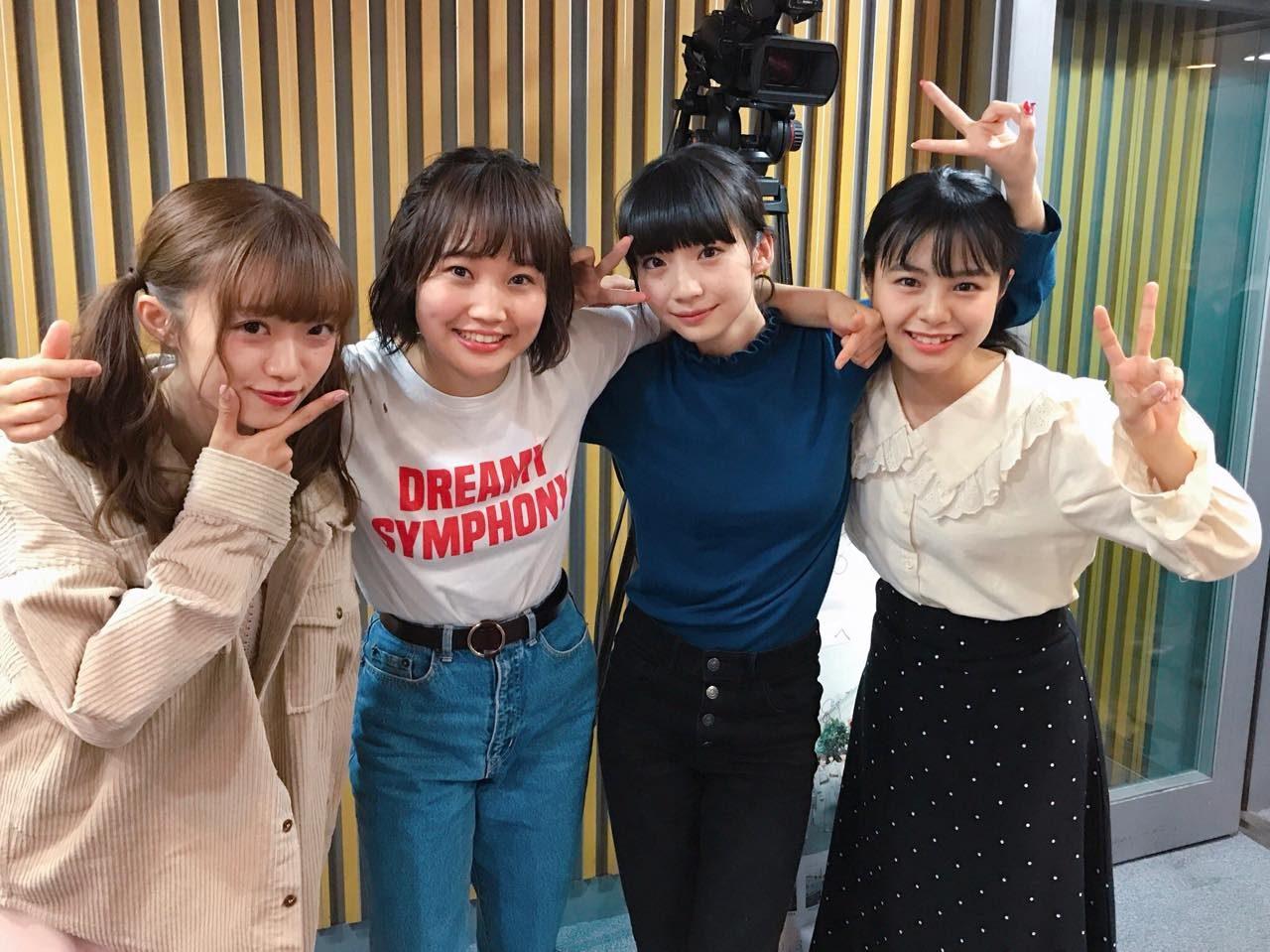 「NGT48のオールナイトニッポン」オフショット * 荻野由佳・本間日陽・中井りか・山田野絵