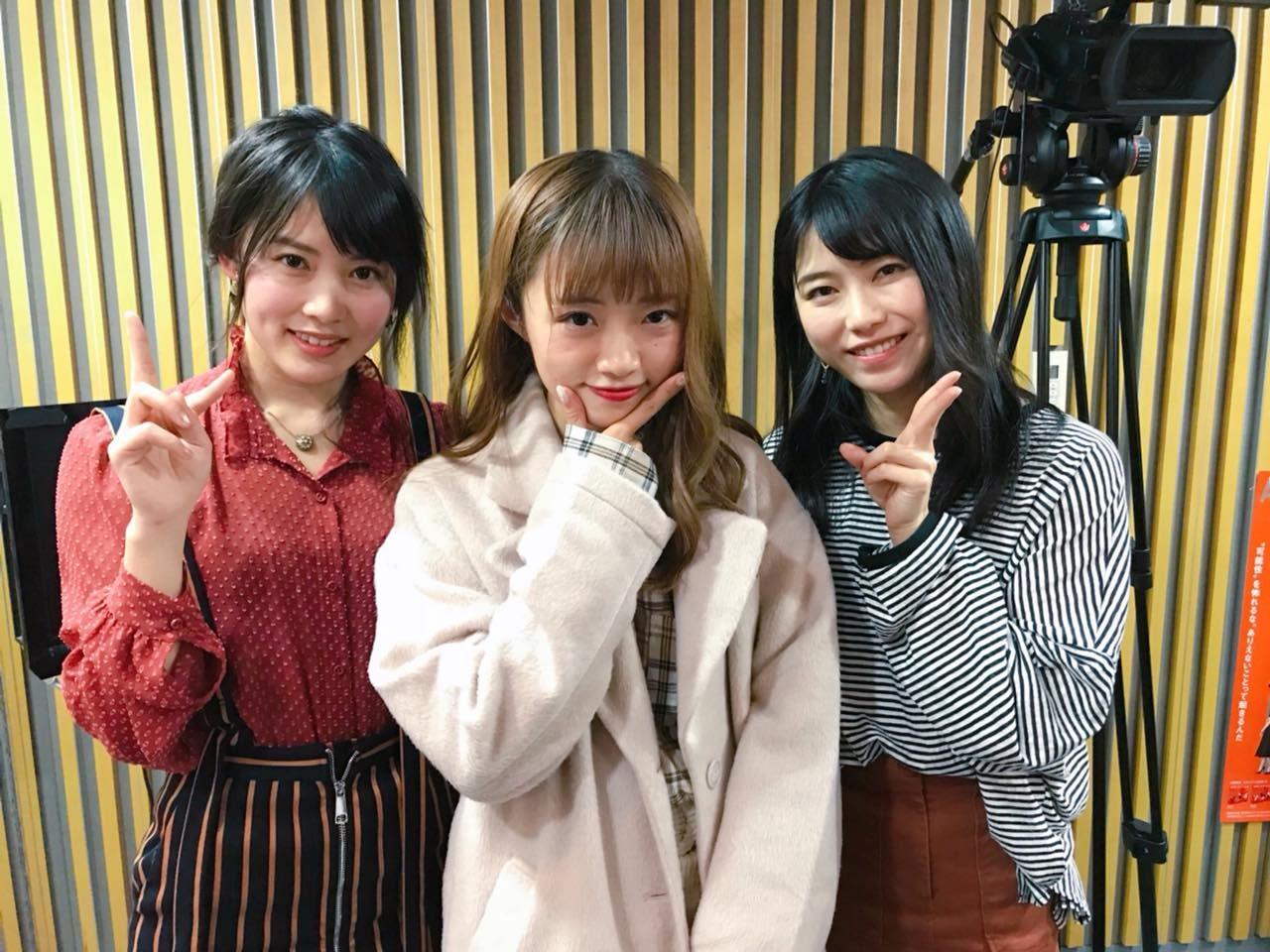 AKB48横山由依・岡部麟・NGT48中井りか「AKB48のオールナイトニッポン」オフショット