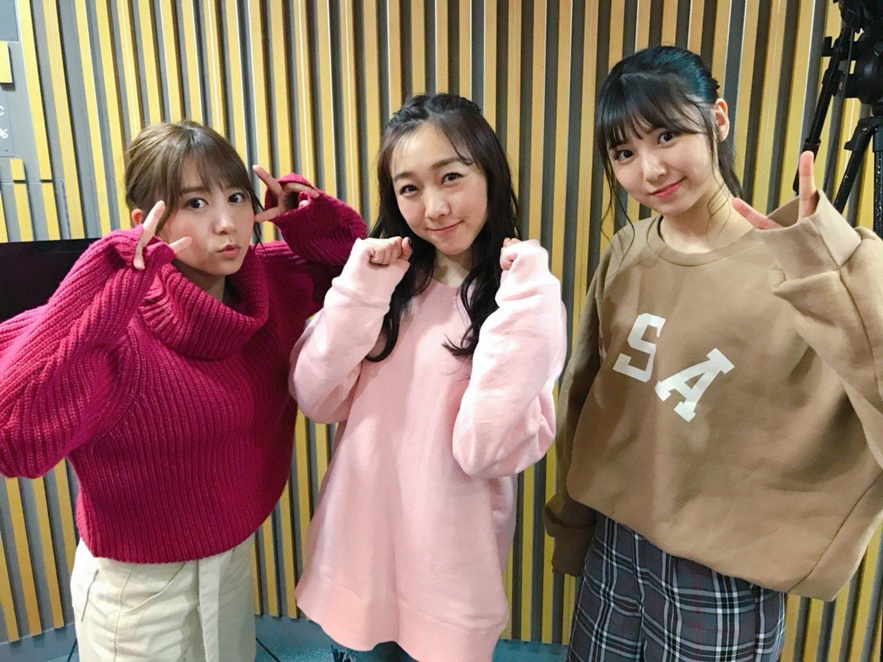 SKE48大場美奈・須田亜香里・菅原茉椰「SKE48のオールナイトニッポン」オフショット
