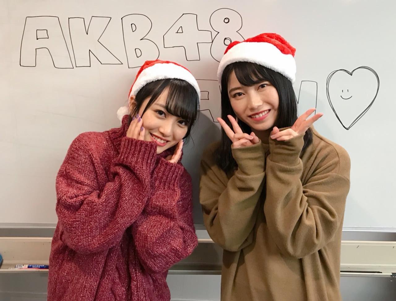 AKB48横山由依・向井地美音「AKB48のオールナイトニッポン」オフショット