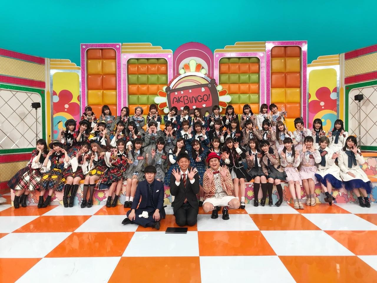「AKBINGO!」新春恒例ラッキーガールランキング2019!48グループ全280人の手相番付発表! [1/8 24:59~]