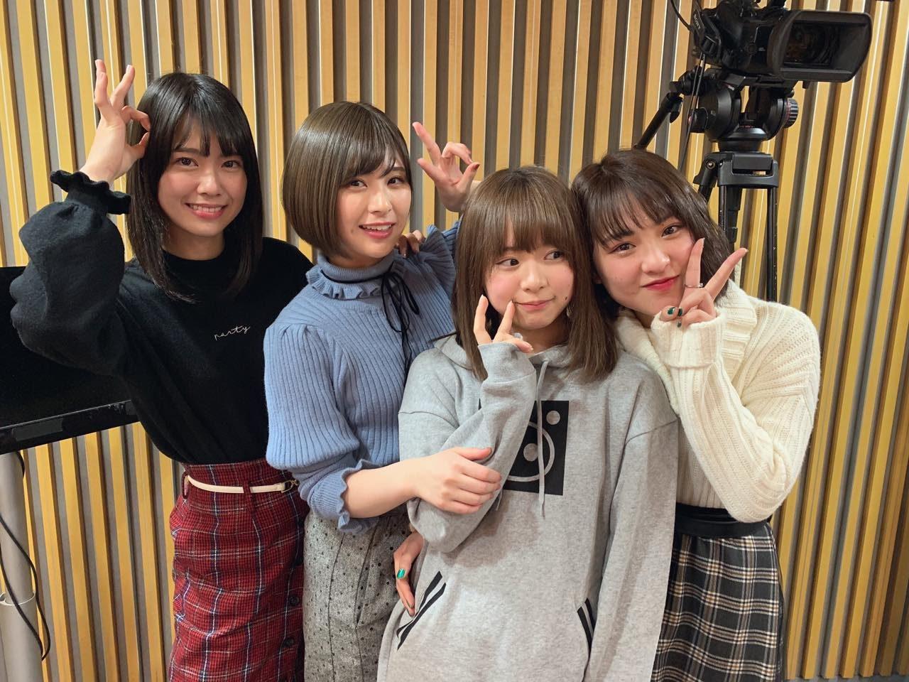 AKB48小田えりな・佐藤栞・山田菜々美・倉野尾成美「AKB48のオールナイトニッポン」オフショット