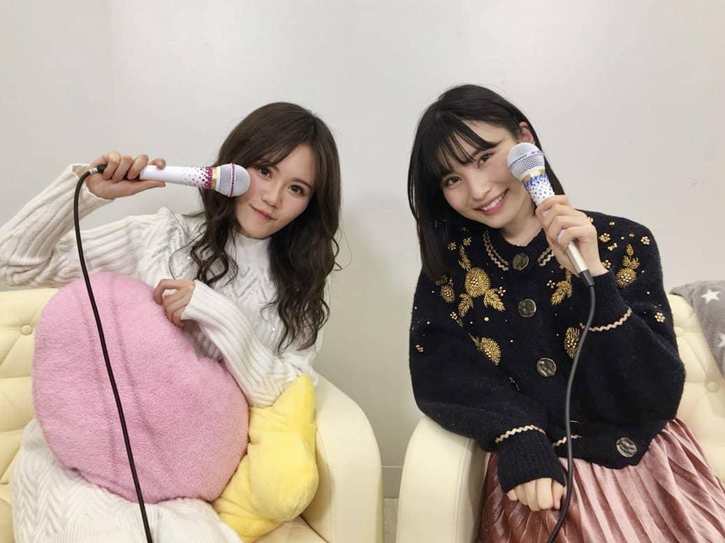 AKB48込山榛香・福岡聖菜「猫舌SHOWROOM」オフショット