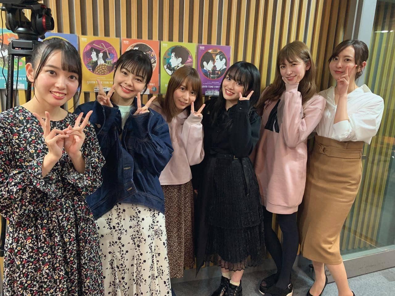 「AKB48のオールナイトニッポン」オフショット * 向井地美音・森保まどか・石田みなみ・吉田朱里・大場美奈・本間日陽