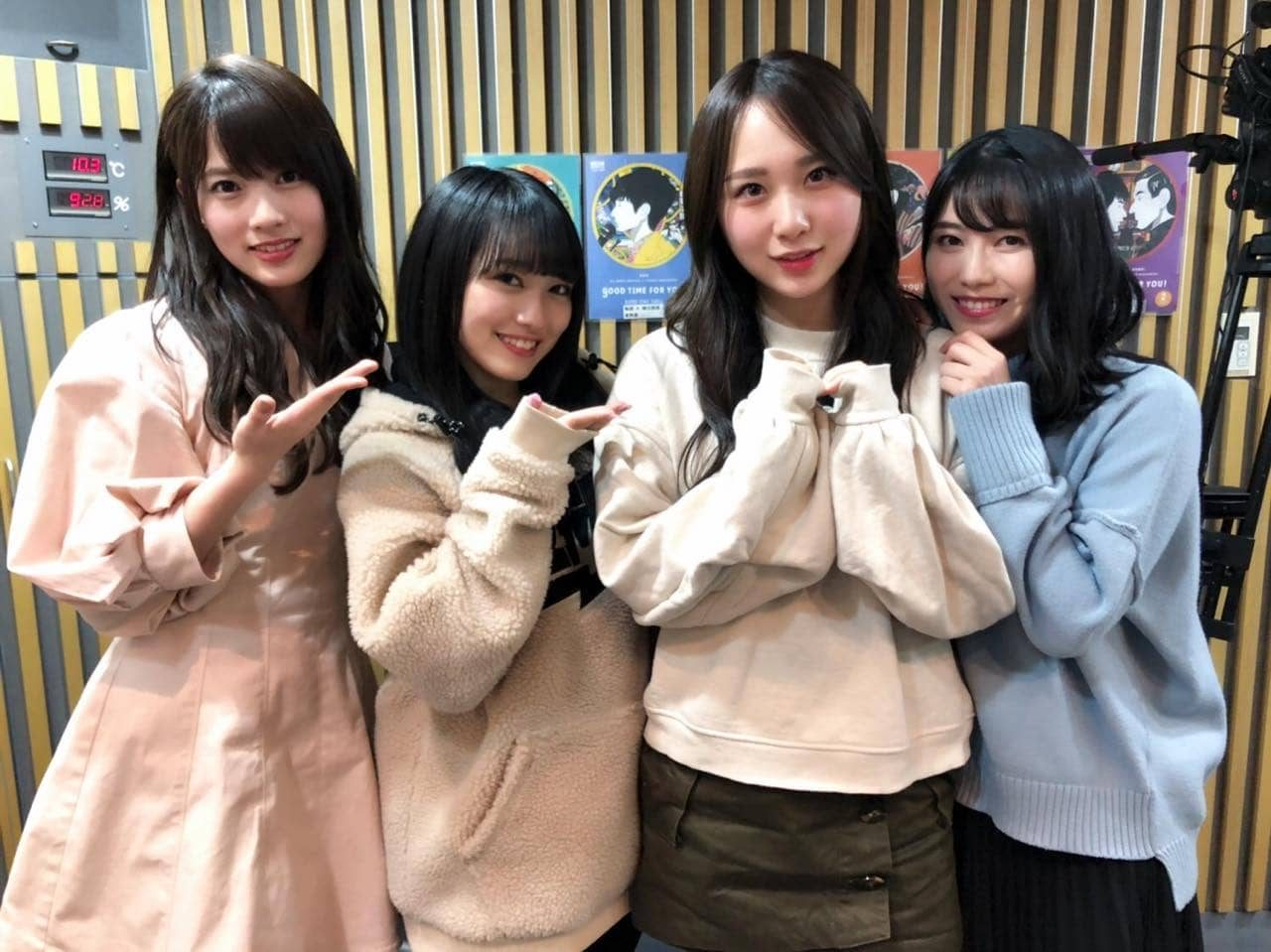 AKB48 高橋朱里・横山由依・向井地美音・岡部麟「AKB48のオールナイトニッポン」オフショット