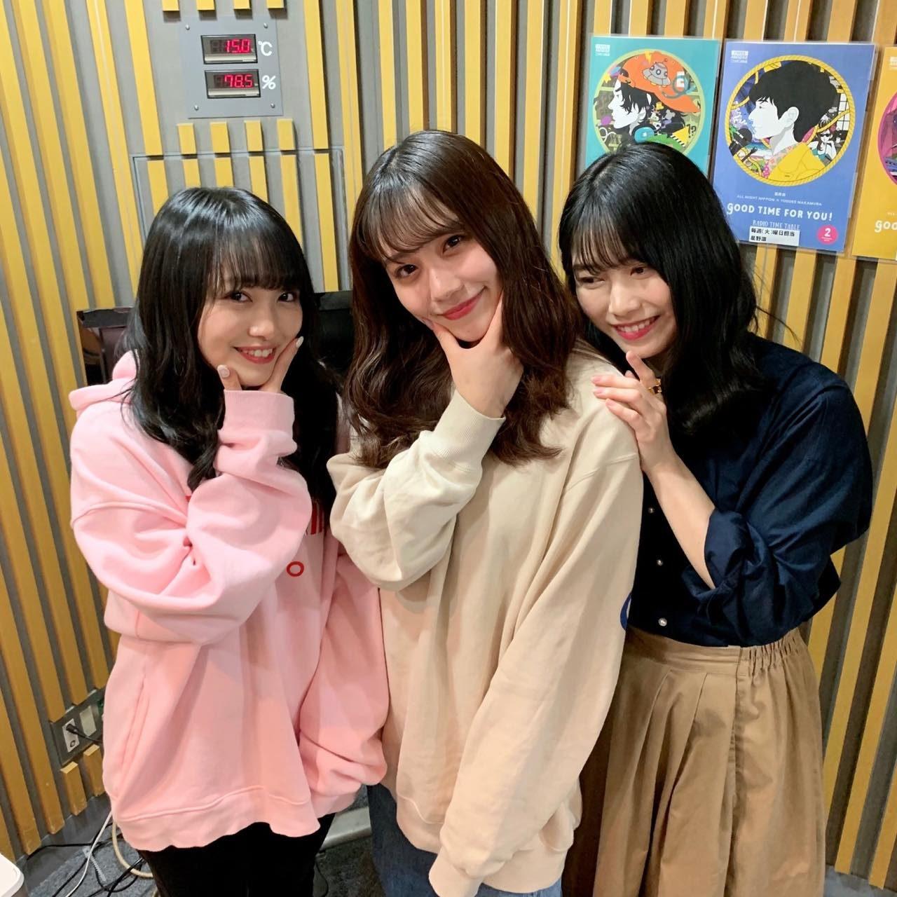 AKB48 横山由依・向井地美音・小嶋真子「AKB48のオールナイトニッポン」オフショット