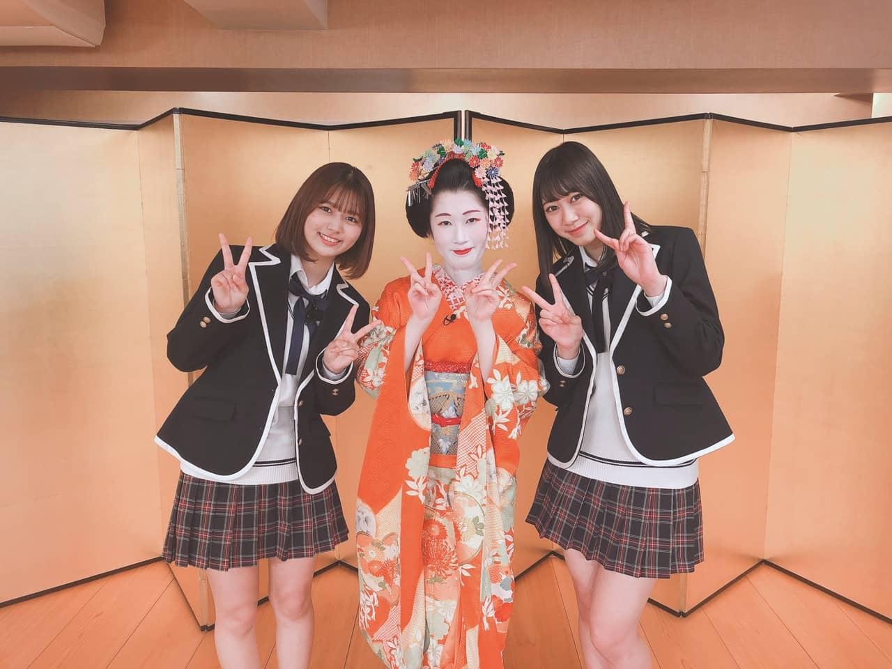 井田玲音名&北野瑠華が舞妓の早紀さんと出会う「SKE48は君と歌いたい」