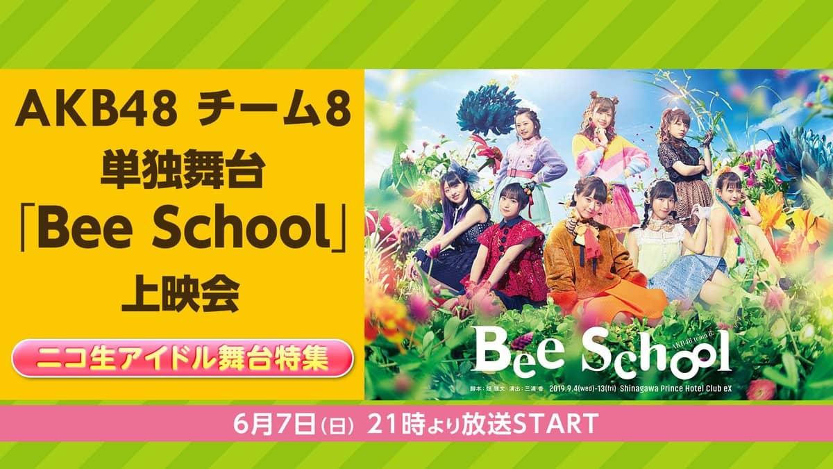 AKB48 チーム8単独公演「Bee School」21時からニコ生配信!