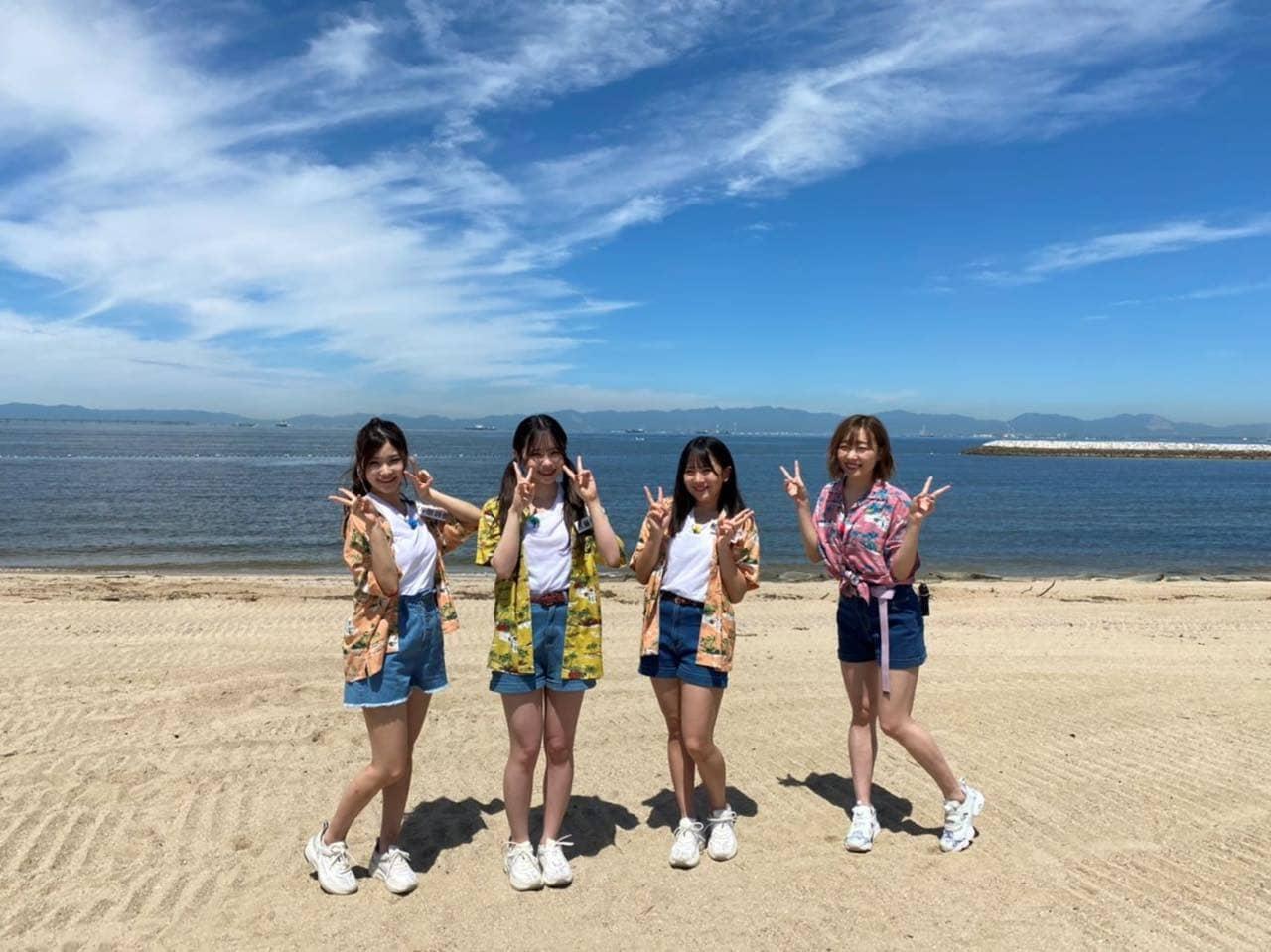 「SKE48のバズらせます!!」バブルボールで運動会 in りんくうビーチ