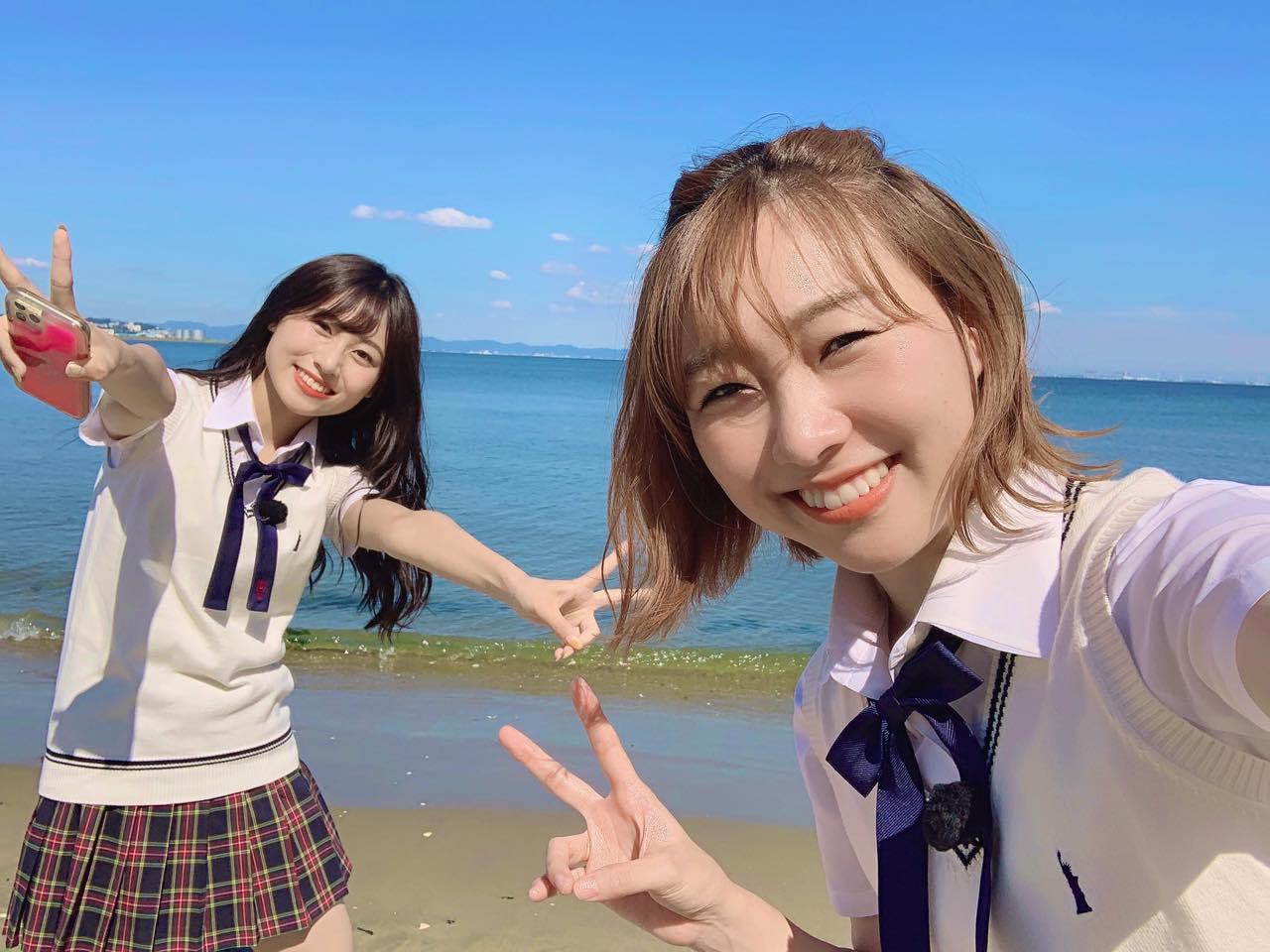 「SKE48は君と歌いたい」須田亜香里&青海ひな乃が蒲郡海鮮市場を訪ね、販売員の男性と出会う