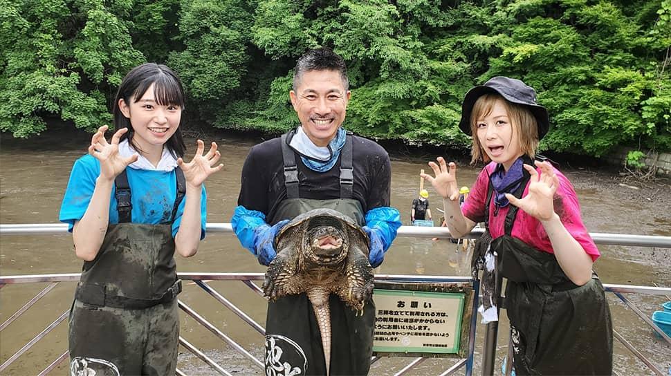 AKB48 大家志津香&山内瑞葵出演「緊急SOS!池の水ぜんぶ抜く大作戦」獰猛なモンスターに山内が接触!あわや大惨事!?