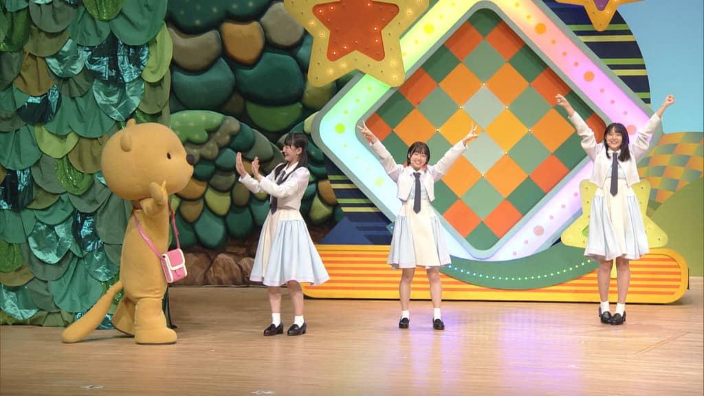 STU48 信濃宙花・甲斐心愛・瀧野由美子が「みんなDEどーもくん」にゲスト出演!