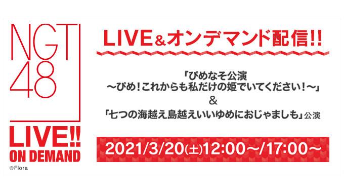 NGT48「ぴめなそ公演」&「七つの海越え島越えいいゆめにおじゃましも!」公演、12時・17時からDMM配信!