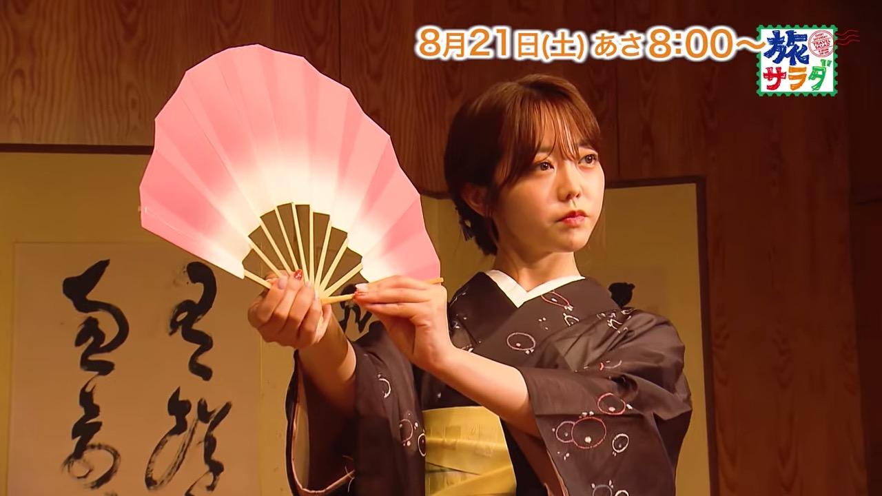 峯岸みなみが「朝だ!生です旅サラダ」にゲスト出演!浴衣で京都の神社巡り!【2021.8.21 8:00〜 テレビ朝日】